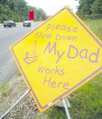 Wonderful example of an empathetic sign - does this make you want to slow down?